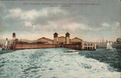 Southern Pacific Co. Broad Gauge Ferry terminal from the Bay