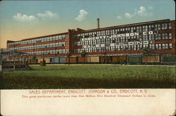 Endicott, Johnson & Co. - Sales Department