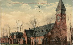 St. Marys Church and Parsonage Postcard