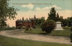 Reed Monument and Maine General Hospital