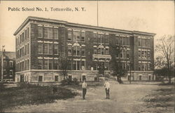 Public School No. 1, With Two Boys Out Front
