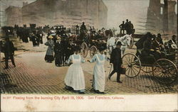 Fleeing from the burning city, April 18, 1906