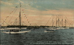 Annual Cruise, New York Yacht Club, at Anchor in New London Harbor