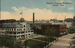 Massasoit Hotel and Main Street Postcard