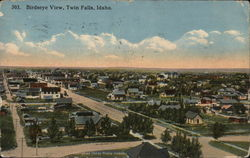 Birdseye View Twin Falls Postcard