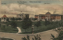 City Park Square Postcard