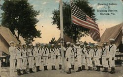 Blowing Colors, US Training Station Postcard