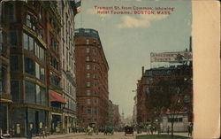 Tremont St. from Common, (showing Hotel Touraine)