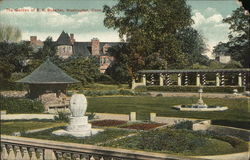 The Garden of E.K. Rossiter Postcard