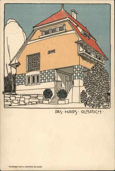 The Olbrich House Illustration Darmstadt Germany Architecture