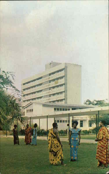 A Portion of Republic Hall, showing Annex, University of Science & Technology Kumasi Ghana