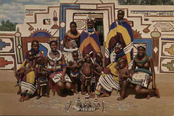 Women and Children of the Ndebele Tribe Pretoria South Africa