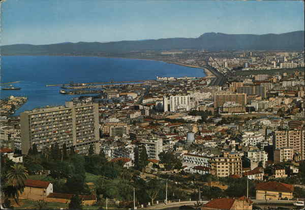View of City and Coast Algiers Algeria Africa