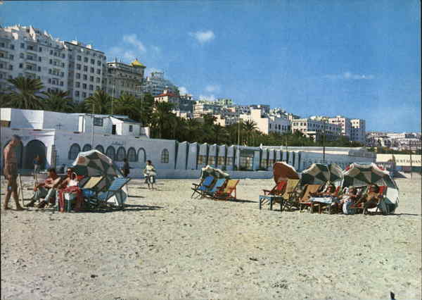 Seaside and Spain Avenue Tangier Morocco Africa