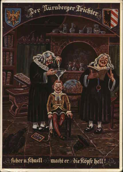 The Funnel of Nuremberg on Boy's Head with Scholars
