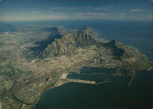 Aerial View of Cape Town and Cape Peninsula South Africa