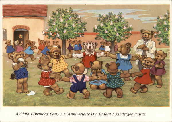 A Child's Birthday Party - Dressed Bears Switzerland