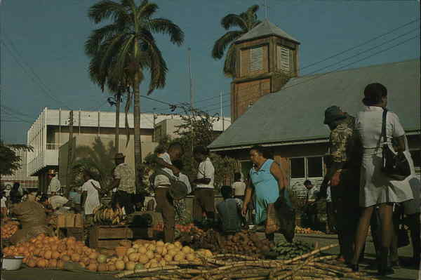 Market at Court House Wharf Belize City Central America