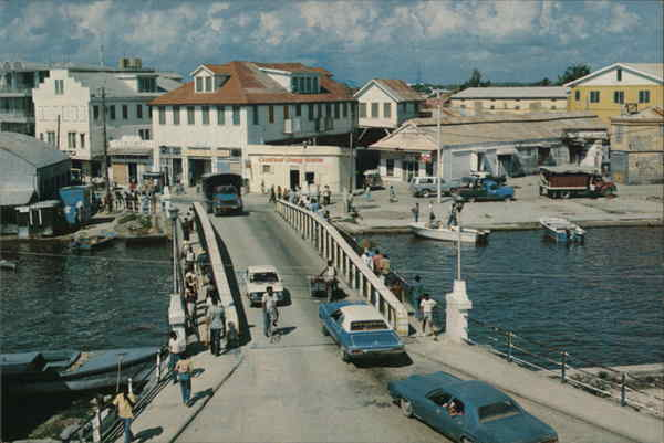 Belize City Swing Bridge Central America