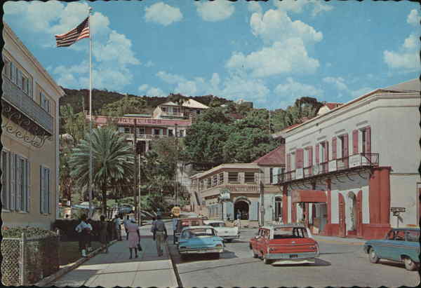Post Office Square in the Heart of Charlotte Amalie St. Thomas Virgin Islands