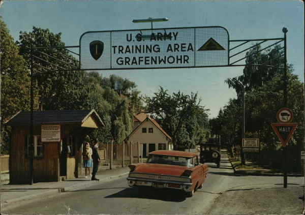 U.S. Army Training Area Grafenwohr Germany