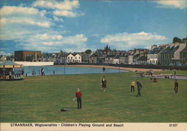 Children's Playing Ground and Beach, Wigtownshire Stranraer Scotland