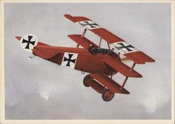 "Fokker DR-1, flown by the ""Red Baron"" during World War I"