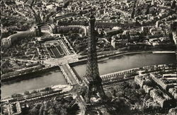 Aerial View of Eiffel Tower and Chaillot Palace