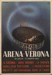 Arena di Verona Calendar of Events Stadium Postcard