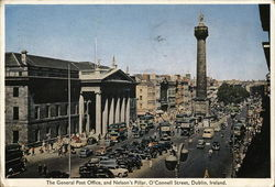 The General Post Office and Nelson's Pillar, O'Connell Street Postcard