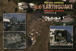 Los Angeles Earthquake 1994 Postcard