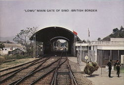 """Lowu"" Main Gate of Sino-Britsh Border Postcard"