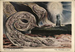 William Blake Painting, The Whirlwind of Lovers