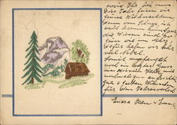 Cottage, Mountain and Trees