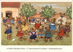 A Child's Birthday Party - Dressed Bears