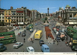 O'Connell Street and Bridge, showing Nelson's Pillar