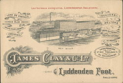 James Clay & Co. Ltd. - Boy Mills Trade Card