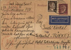 Blank Postcard with Hitler Stamps