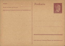 Blank Card, Hitler Stamp