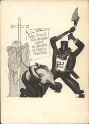 Soviet WWII Propoganda: Nazi Beheading