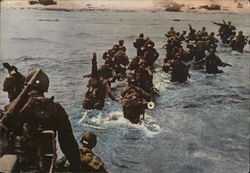 Troops Disembark on Normandy Beach