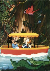 Mickey Mouse and Donald Duck in riverboat