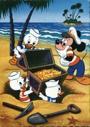 Mickey Mouse with Huey, Dewey, and Louie - Found Treasure Chest