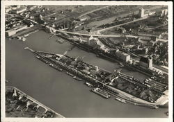 Aerial Photo of the Port of Basel