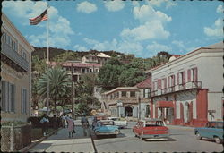 Post Office Square in the Heart of Charlotte Amalie Postcard