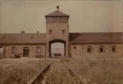 View of the Birkenau Gate House from Outside