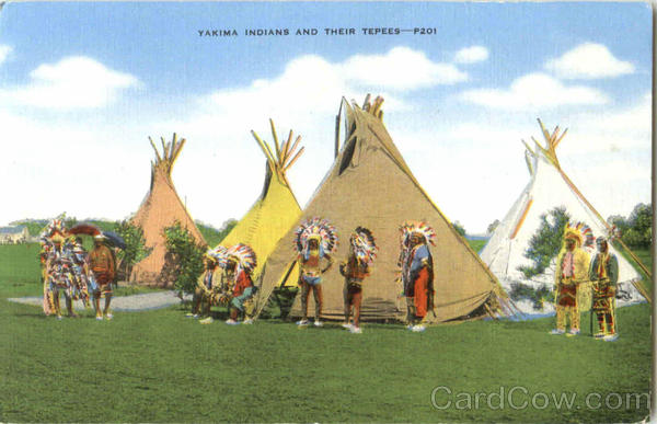 Yakima Indians And Their Tepees Native Americana