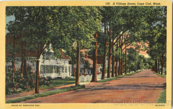 A Village Street Cape Cod Massachusetts