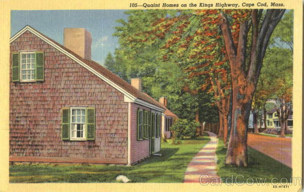 Quaint Homes On The Kings Highway Cape Cod Massachusetts