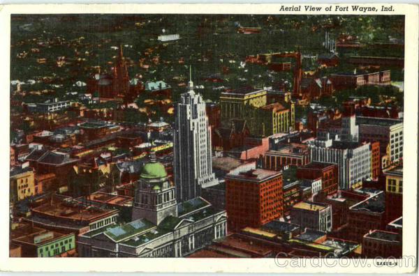Aerial View Of Fort Wayne Indiana